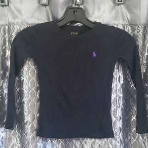 Girls Polo Long Sleeved T-Shirt